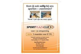 SportPlazaClub Velsen vanaf 1 juli weer open