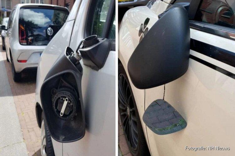 """Vandaal slaat spiegels van auto's in IJmuidense buurt: """"Ik zet mijn auto niet meer langs de straat"""""""