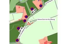 Tijdelijk verbod op stilstaan en parkeren Duin- en Kruidbergerweg