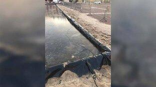 """Vandalen vernielen ijsbaan op IJmuidens plein: """"Genoeg kansloze zure volwassenen op deze planeet"""""""