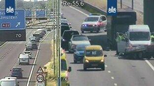 Wijkertunnel richting Alkmaar afgesloten na ongeluk
