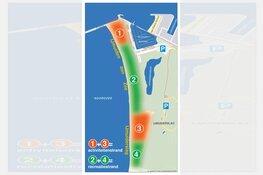 Verduidelijking surfzones strand IJmuiden en strand Noordpier