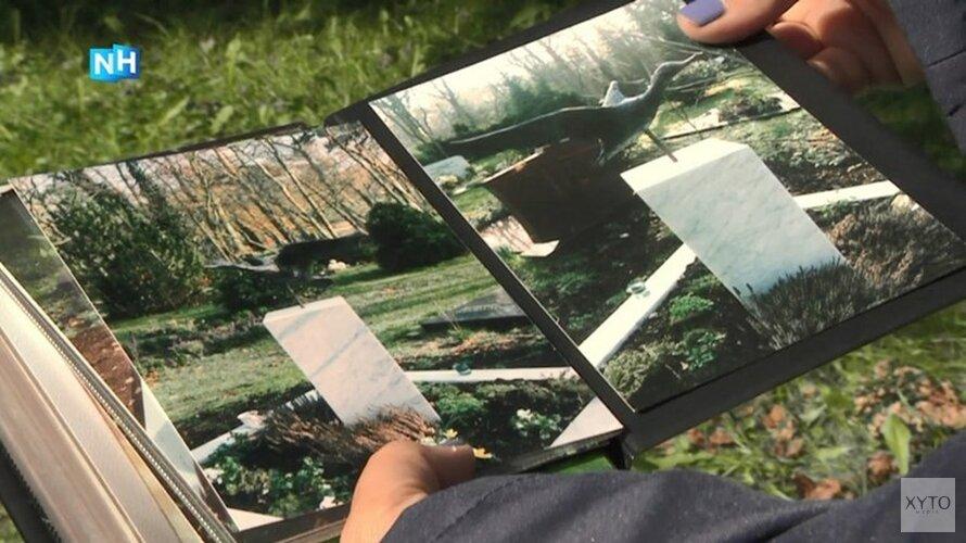 Begraafplaats met handen in het haar na diefstallen grafmonumenten