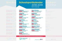 In regio Ijmuiden staat de Schoolsportkalender voor het basisonderwijs weer klaar
