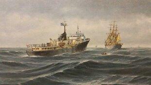 Laatste week expositie 'Loodsboten IJmuiden'.