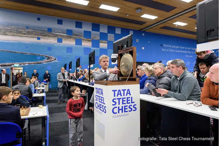 Topdrukte op Tata Steel Chess Tournament