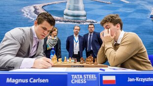 Bezoek FIDE-president en Judit Polgar aan Tata Steel Chess Tournament