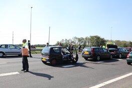 Chaos op A9 weer voorbij: spits met twee ongelukken en een kapotte auto