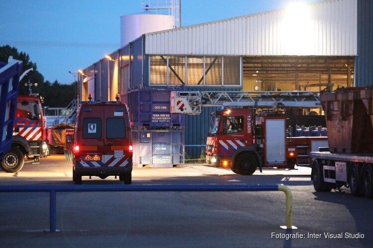 Brand in grote schuur in Velsen-Noord