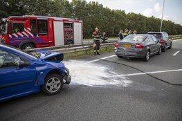 Gewonde en lange file door ongeval afrit A22