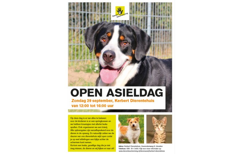 Open Dag Kerbert Dierentehuis 29 september