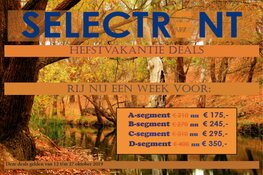 Herfstvakantie deals bij Select Car Lease