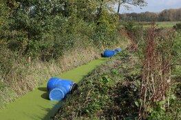 Gedumpte vaten aangetroffen in recreatiegebied Spaarnwoude