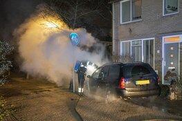 Auto verwoest door brand in Velserbroek