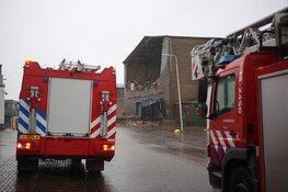 Loods in haven IJmuiden stort gedeeltelijk in
