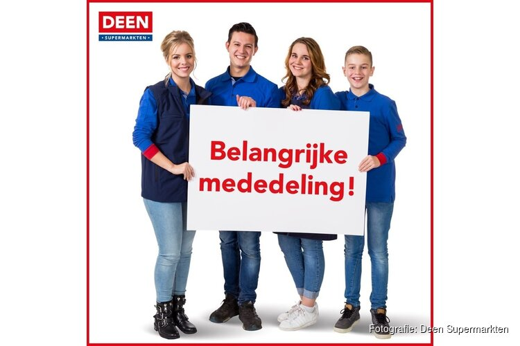 Verzoek van Deen Supermarkten: kom in je eentje boodschappen doen
