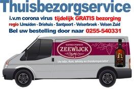 Gratis Thuisbezorgservice van Slijterij & Wijnhuis Zeewijck i.v.m Corona