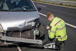 Veel schade en file door ongeval op de A9 bij Spaarndam